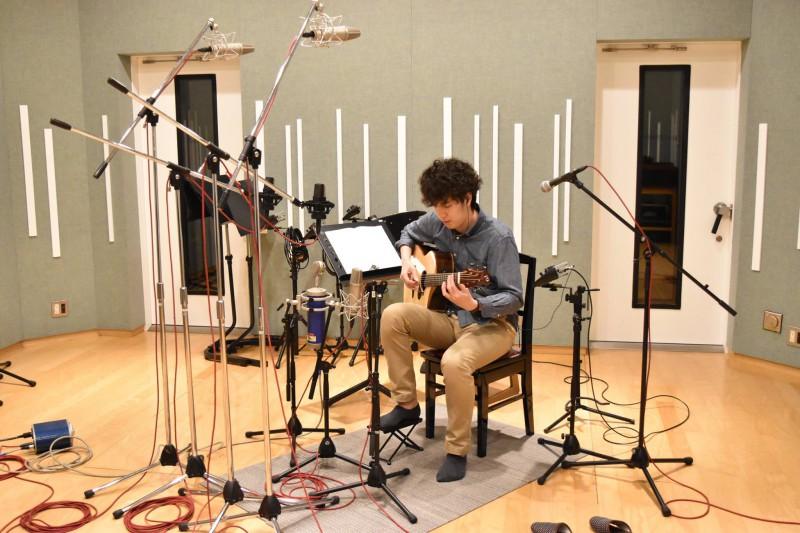 アコースティックギタリストの伍々慧さんのレコーディングが始まりました!