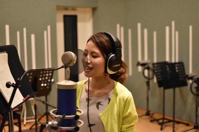 白木絢子さんのレコーディングを行いました!